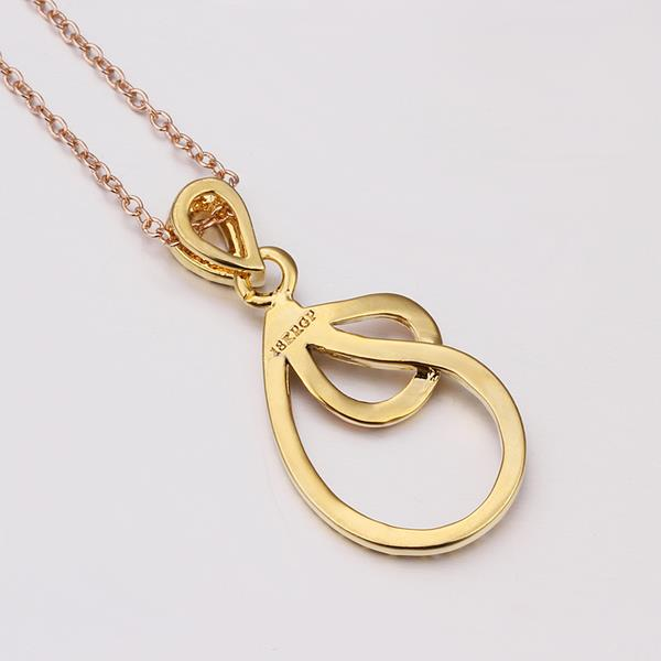 Wholesale Vintage rose Gold Plated Double Loops Zircon Necklace High Quality Women Collarbone Chains The New Listing Fine Jewelry TGGPN066 0