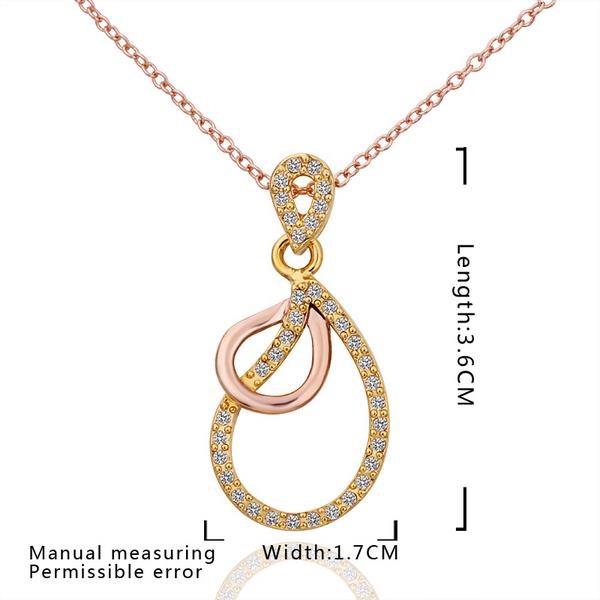Wholesale Vintage rose Gold Plated Double Loops Zircon Necklace High Quality Women Collarbone Chains The New Listing Fine Jewelry TGGPN066 1