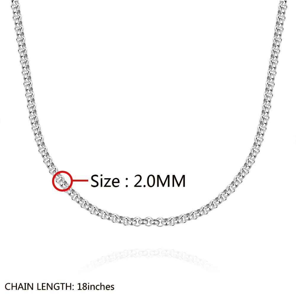 Wholesale Trendy Rhodium Round Chain Nceklace TGCN001 0