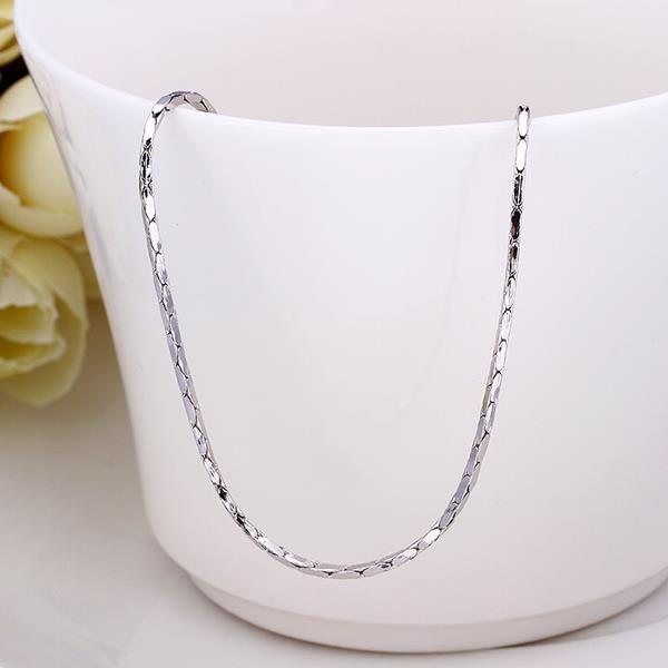 Wholesale Trendy Platinum Geometric Chain Nceklace TGCN016 0