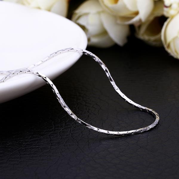 Wholesale Trendy Platinum Geometric Chain Nceklace TGCN016 1