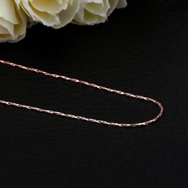 Wholesale Romantic 24K Gold Geometric Chain Nceklace TGCN019 0