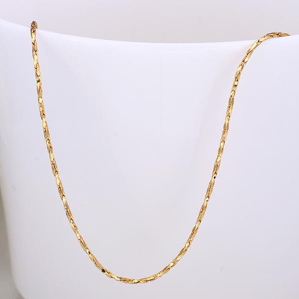 Wholesale Romantic 24K Gold Geometric Chain Nceklace TGCN019 3