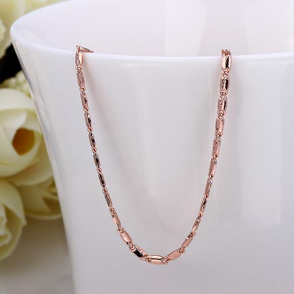 Wholesale Classic Rose Gold Geometric Chain Nceklace TGCN025 1