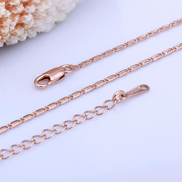Wholesale Classic Rose Gold Geometric Chain Nceklace TGCN025 2