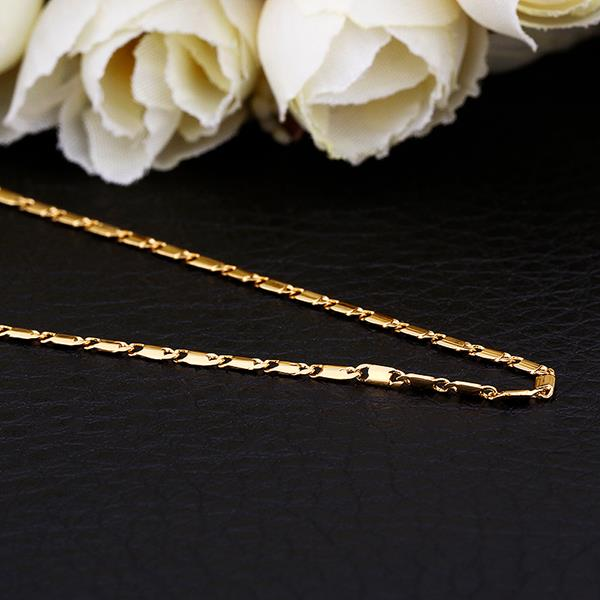 Wholesale Classic Rose Gold Geometric Chain Nceklace TGCN025 5