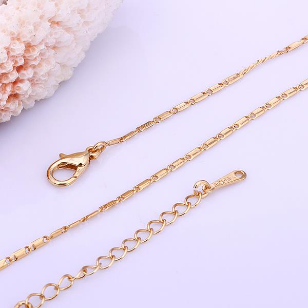 Wholesale Classic 24K Gold Geometric Chain Nceklace TGCN032 1