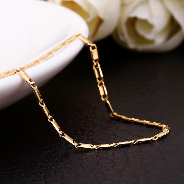 Wholesale Classic 24K Gold Geometric Chain Nceklace TGCN032 2