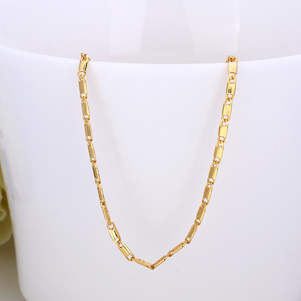 Wholesale Classic 24K Gold Geometric Chain Nceklace TGCN032 3