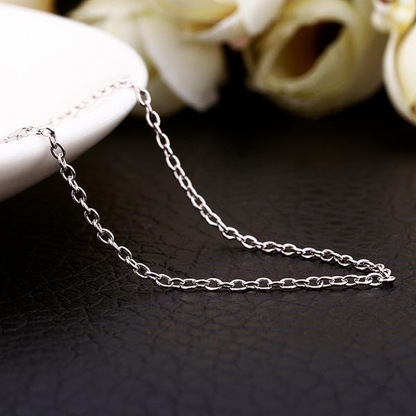 Wholesale Trendy Platinum Geometric Chain Nceklace TGCN034 0