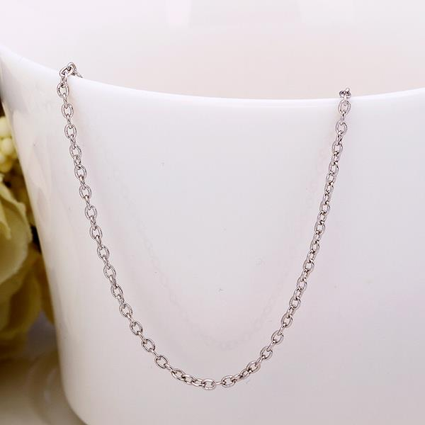 Wholesale Trendy Platinum Geometric Chain Nceklace TGCN034 1