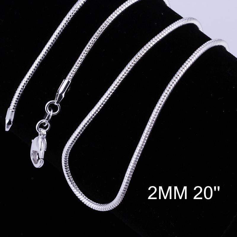 Wholesale Classic Silver Geometric Chain Nceklace TGCN051 2