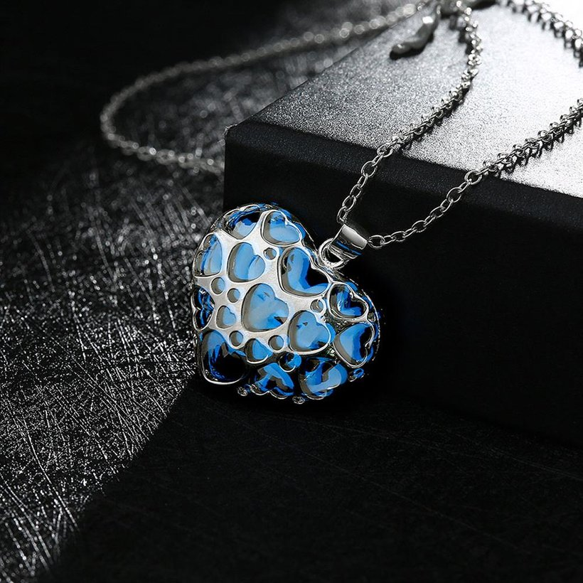 Wholesale Romantic Silver Heart Necklace TGLP116 4