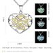 Wholesale Romantic Silver Heart Necklace TGLP116 6
