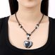 Wholesale Vintage Rhodium Heart Semi-precious Stone Necklace TGNSP020 4