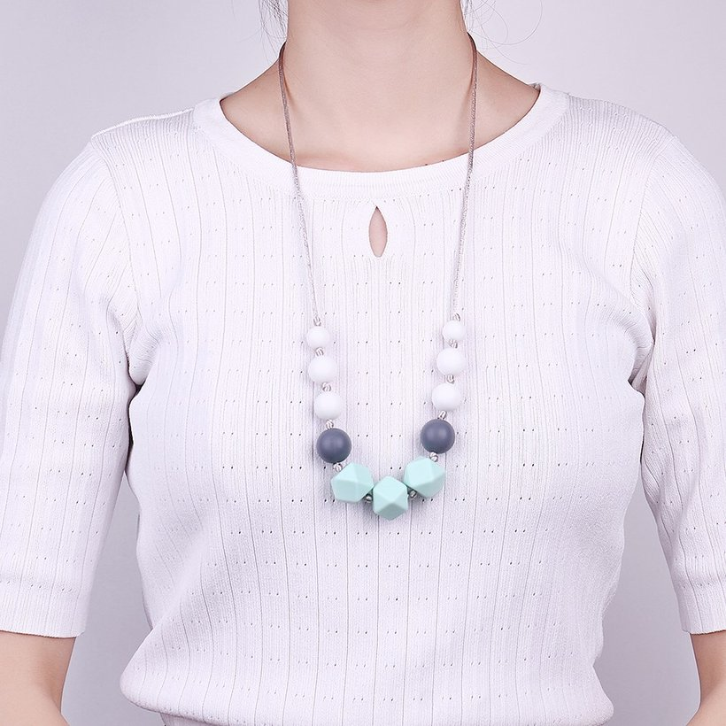 Wholesale Bohemia Geometric Silicone Multicolor Necklace TGSN007 0