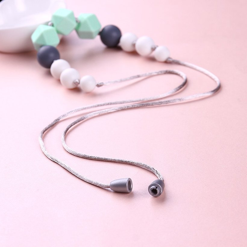 Wholesale Bohemia Geometric Silicone Multicolor Necklace TGSN007 1