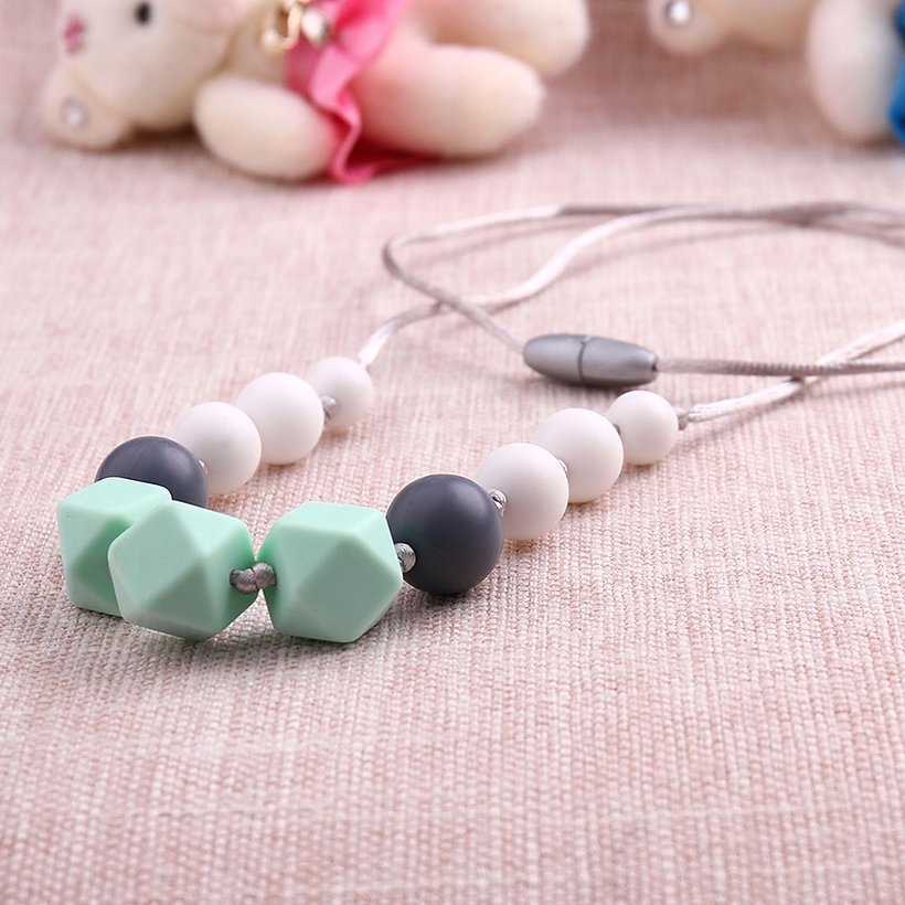 Wholesale Bohemia Geometric Silicone Multicolor Necklace TGSN007 2