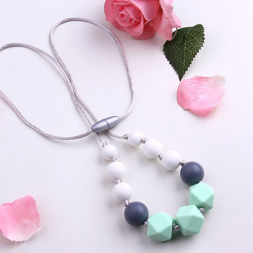 Wholesale Bohemia Geometric Silicone Multicolor Necklace TGSN007 3