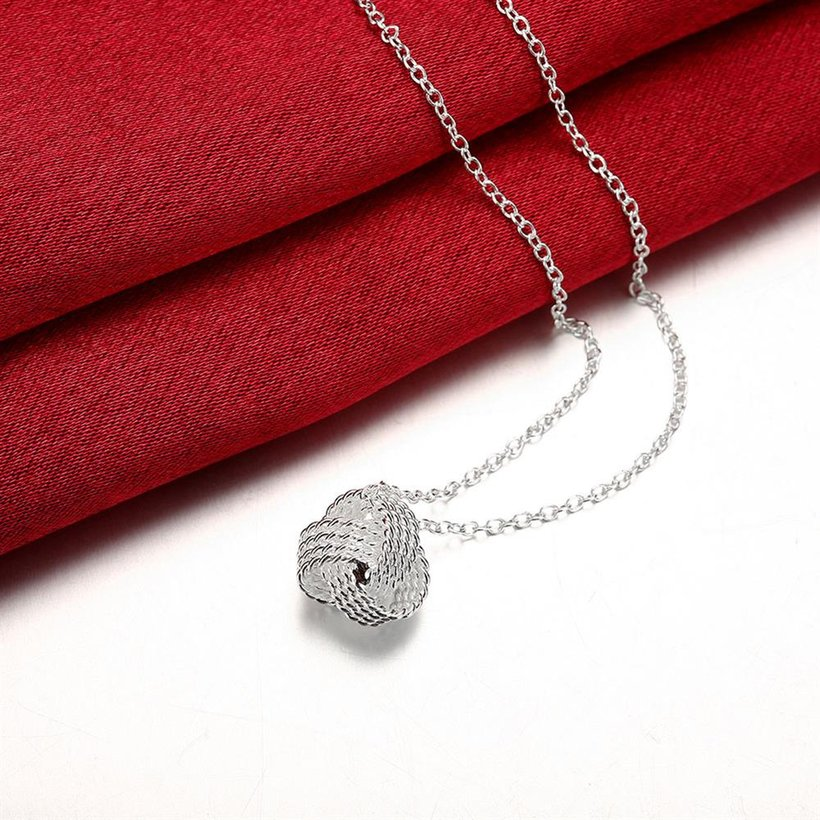 Wholesale Trendy Silver Ball Necklace TGSPN473 2