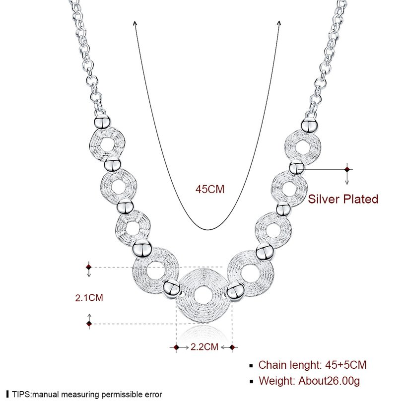Wholesale Trendy Silver Geometric Wave Necklace TGSPN546 0
