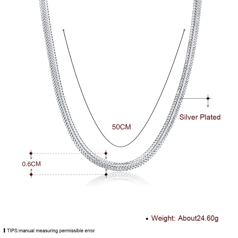 Wholesale Trendy Silver Round Necklace TGSPN463 0