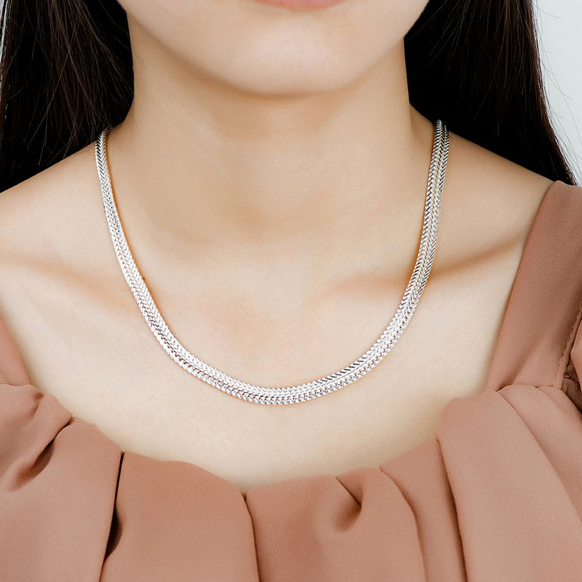 Wholesale Trendy Silver Round Necklace TGSPN463 3