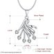 Wholesale Trendy Silver Fan Crystal Necklace TGSPN414 0