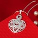 Wholesale Silver Heart Crystal Necklace TGSPN444 2