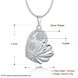 Wholesale Trendy Silver Fish Crystal Necklace TGSPN449 0
