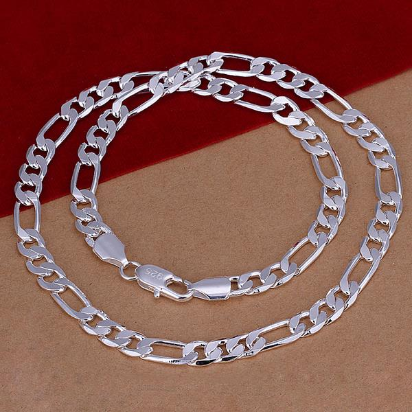 Wholesale Classic Silver Round Necklace TGSPN510 0