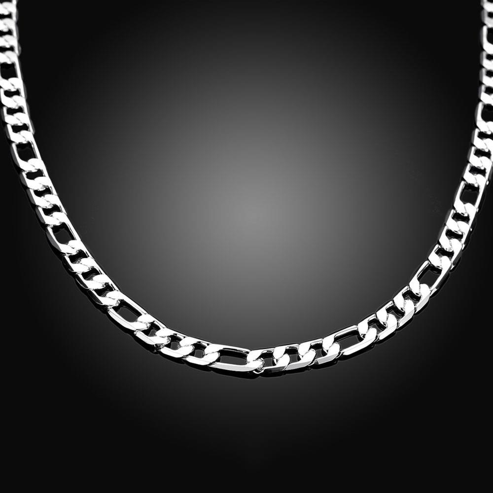 Wholesale Classic Silver Round Necklace TGSPN510 2
