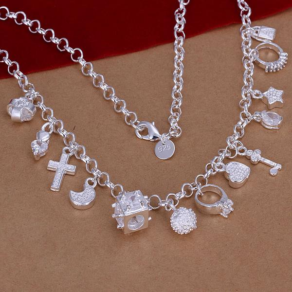 Wholesale Trendy Silver Cross Necklace TGSPN524 0