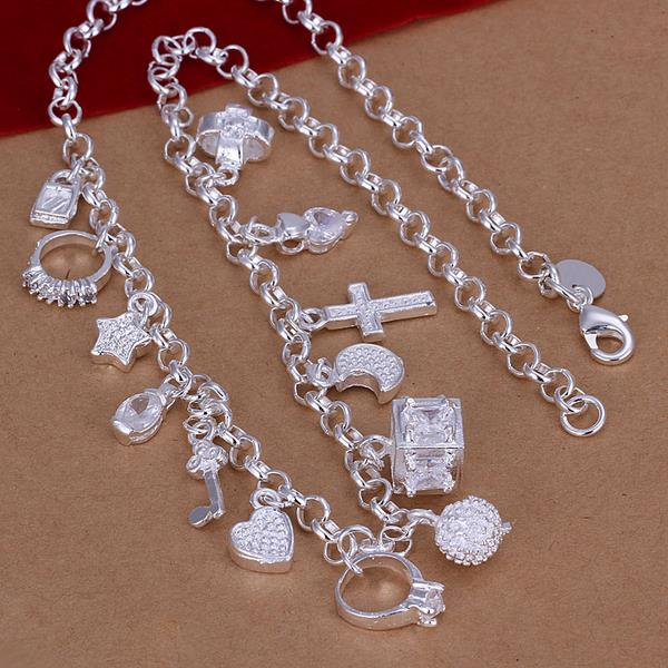 Wholesale Trendy Silver Cross Necklace TGSPN524 1