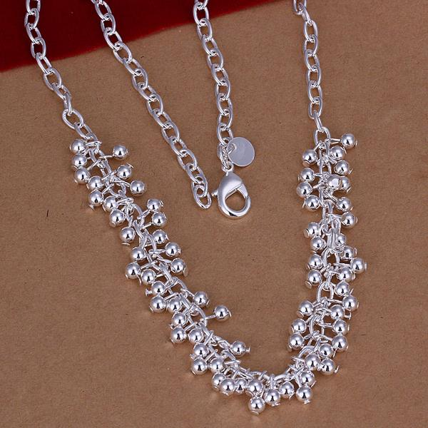 Wholesale Romantic Silver Ball Necklace TGSPN606 0
