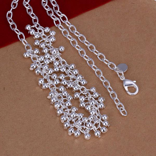 Wholesale Romantic Silver Ball Necklace TGSPN606 1