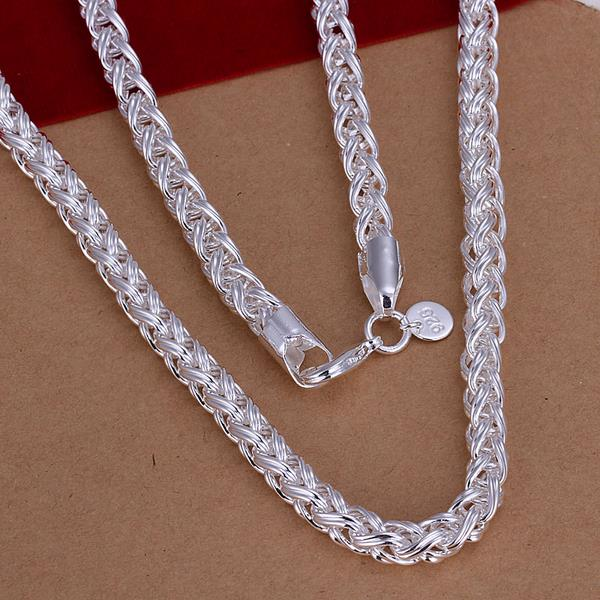 Wholesale Romantic Silver Face Necklace TGSPN624 0