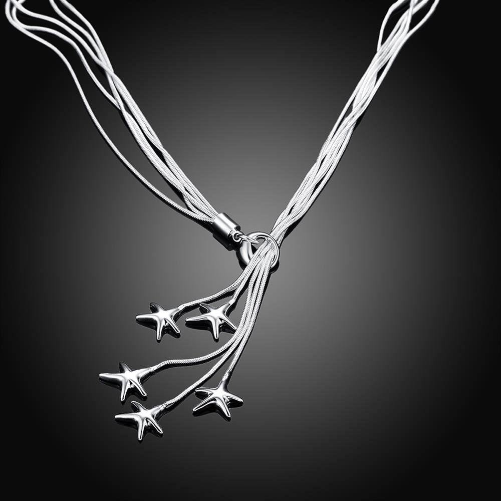 Wholesale Classic Silver Star Necklace TGSPN633 2