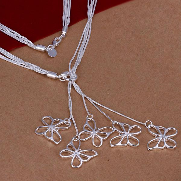 Wholesale Romantic Silver Animal Necklace TGSPN641 0