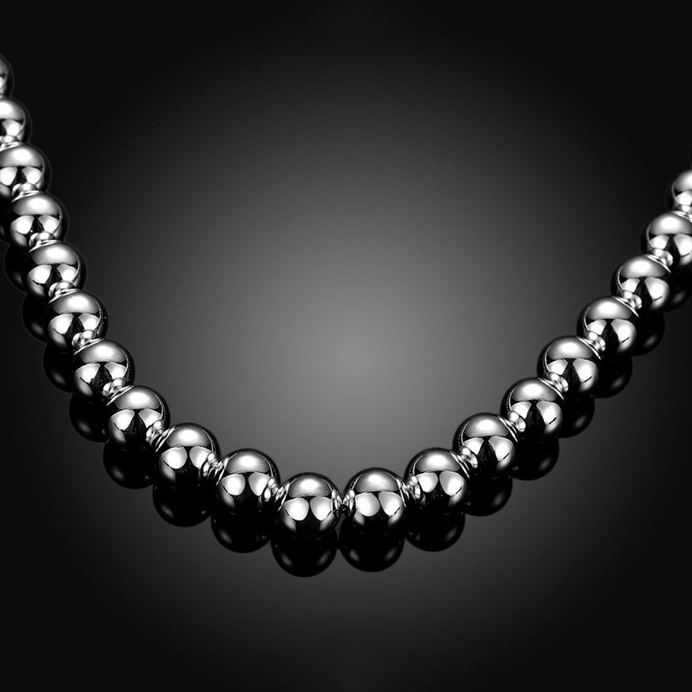 Wholesale Trendy Silver Ball Necklace TGSPN649 2