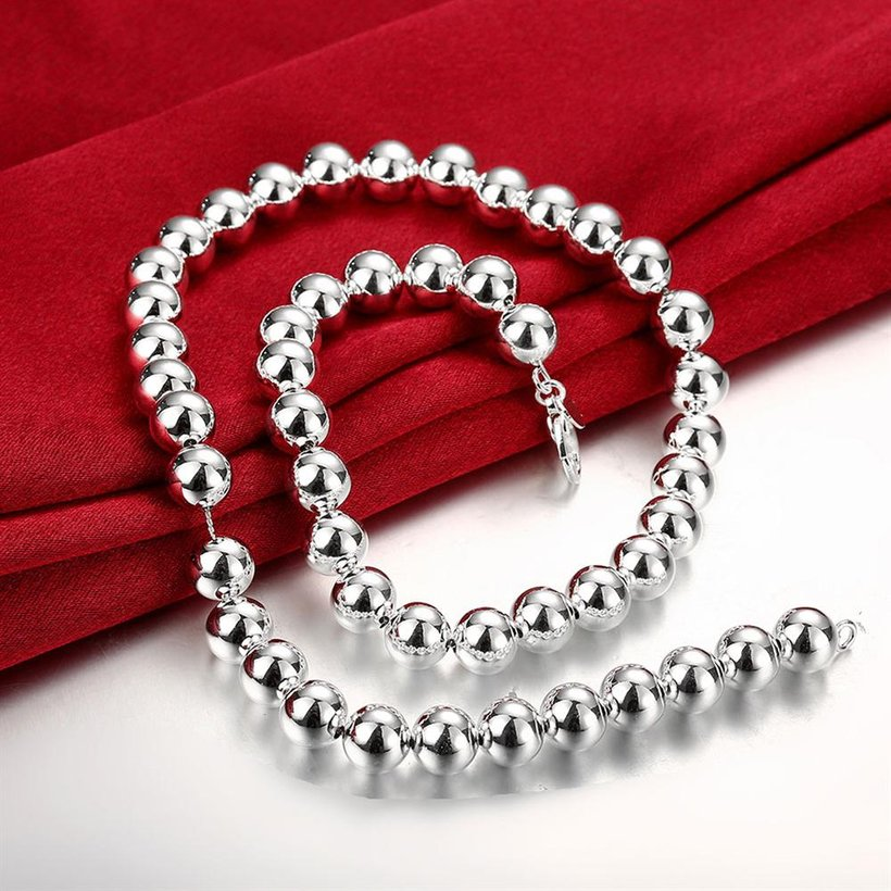 Wholesale Trendy Silver Ball Necklace TGSPN649 3