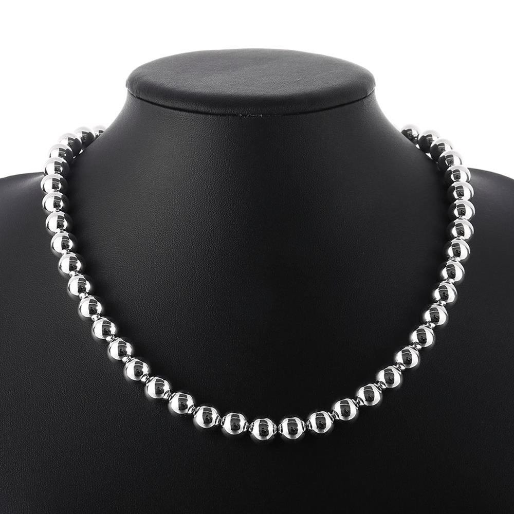 Wholesale Trendy Silver Ball Necklace TGSPN649 5