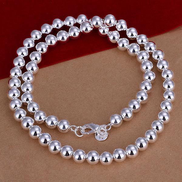 Wholesale Romantic Silver Ball Necklace TGSPN666 0