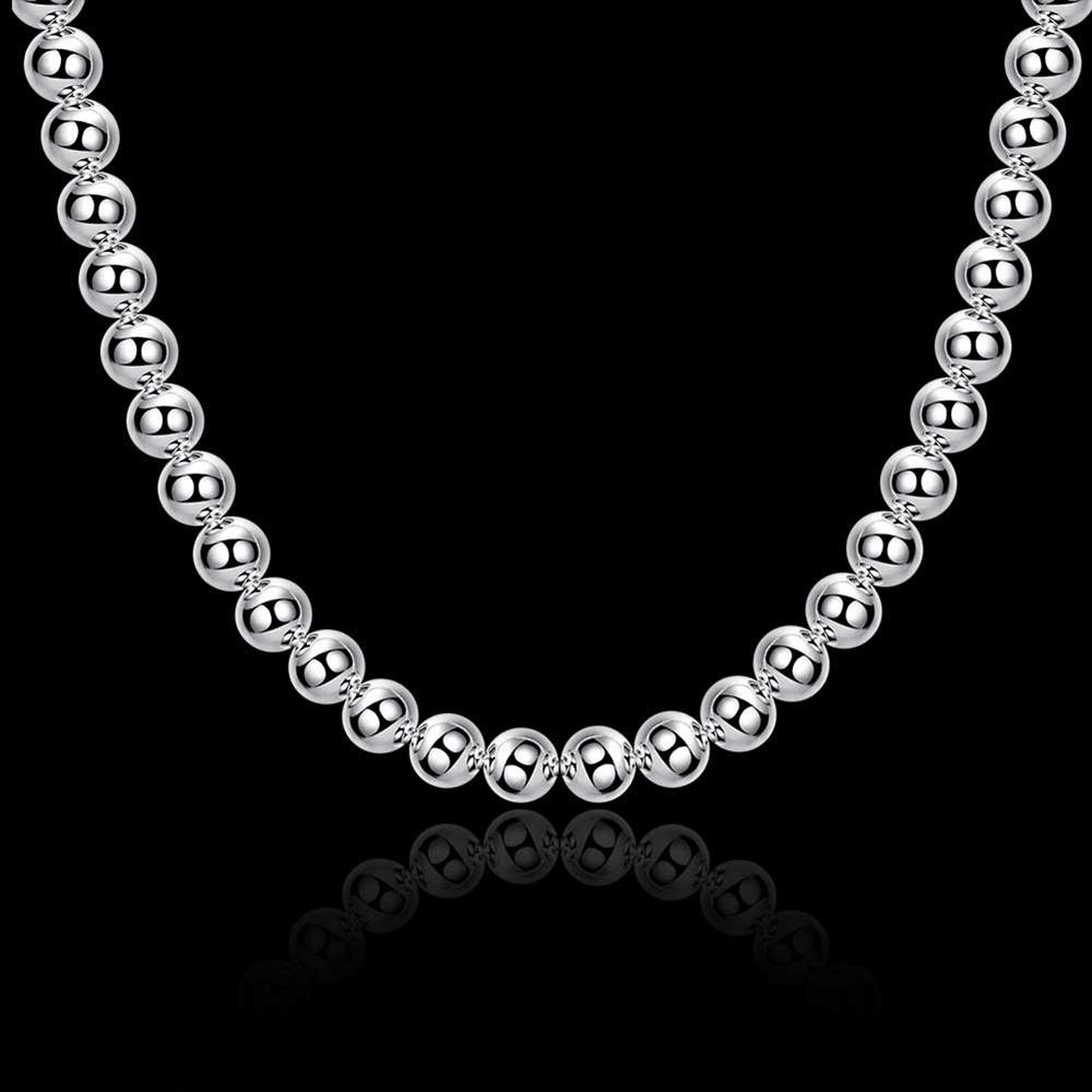 Wholesale Romantic Silver Ball Necklace TGSPN666 2