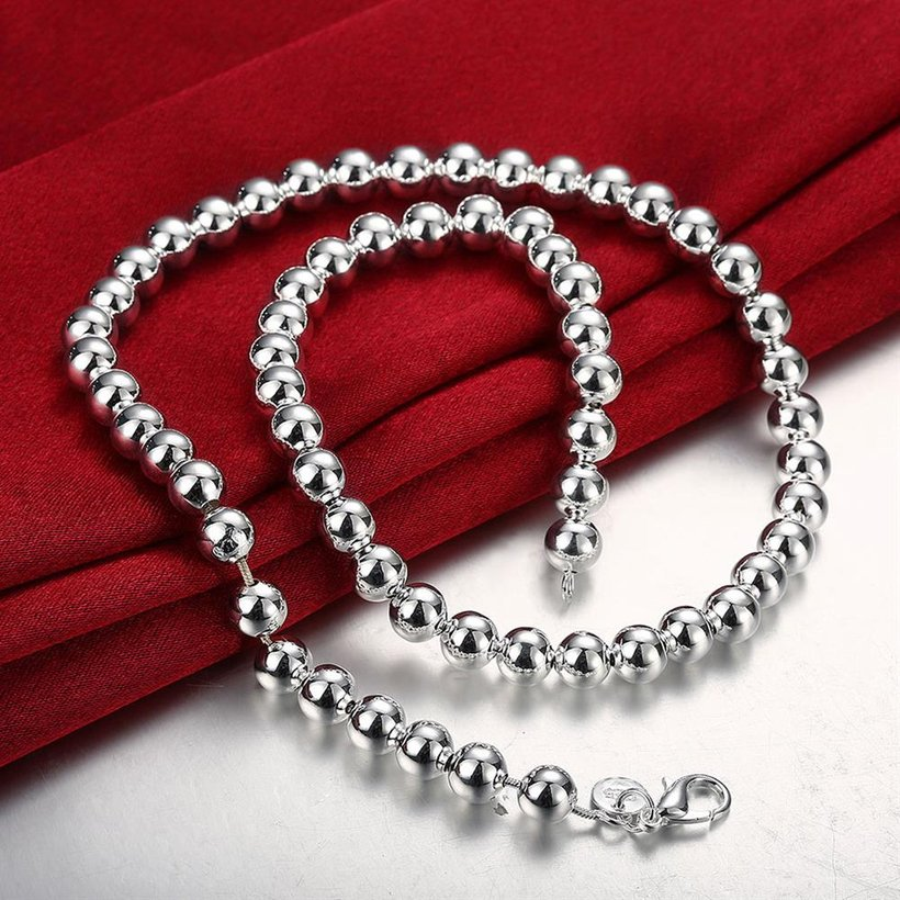 Wholesale Romantic Silver Ball Necklace TGSPN666 4