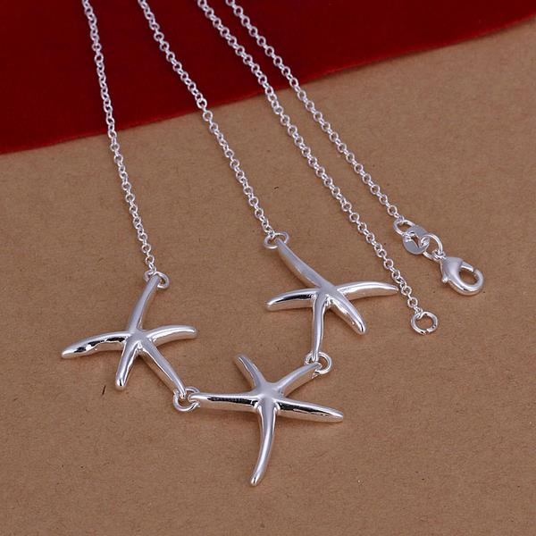 Wholesale Romantic Silver Star Necklace TGSPN680 1