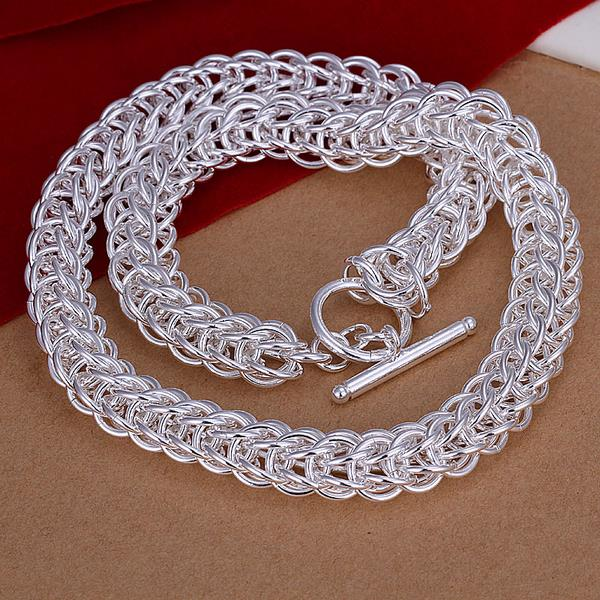 Wholesale Classic Silver Round Necklace TGSPN707 0