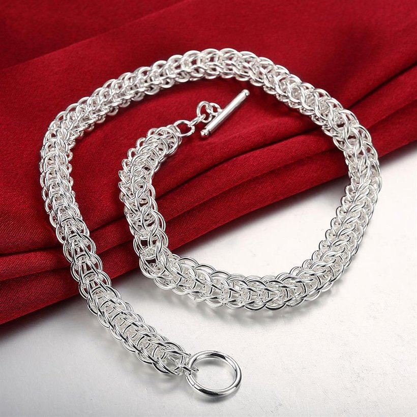 Wholesale Classic Silver Round Necklace TGSPN707 3