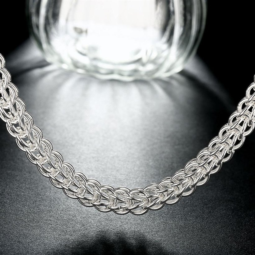 Wholesale Classic Silver Round Necklace TGSPN707 4