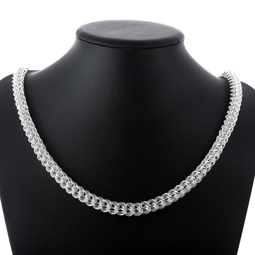 Wholesale Classic Silver Round Necklace TGSPN707 5